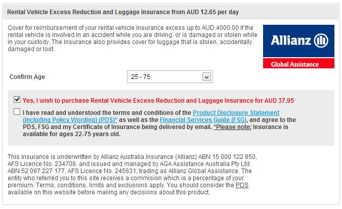 Allianz Excess Reduction Option