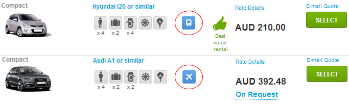 Airport Car Hire Icons