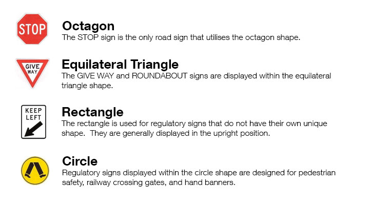 types of road signs in queensland