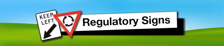 Regulatory Road Signs