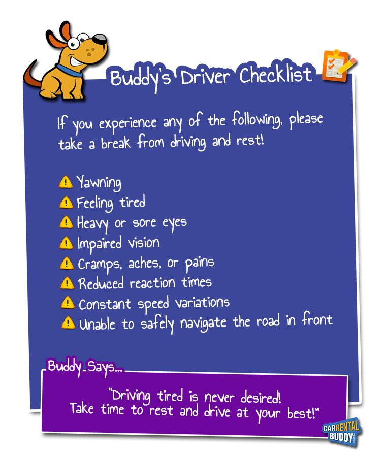Buddy's Driver Checklist