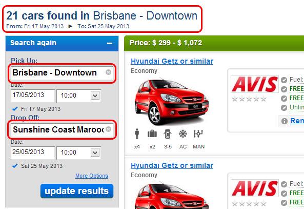 Brisbane to Sunshine Coast Quote