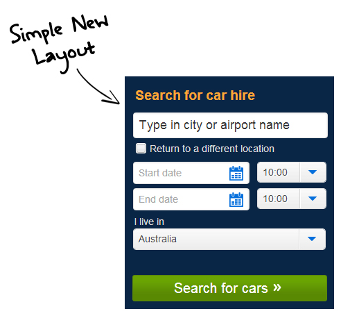 Car Rental Buddy Quote Form