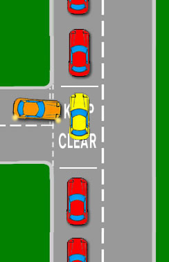 Blocking a Keep Clear Intersection