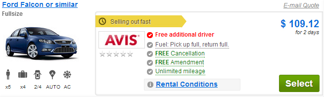 Free Additional Driver
