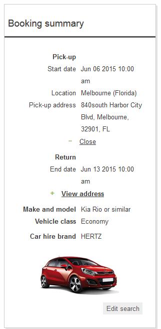 Pick Up Address