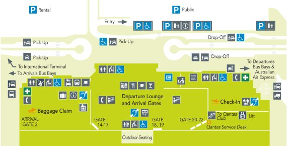 Cairns Airport Domestic Terminal Map