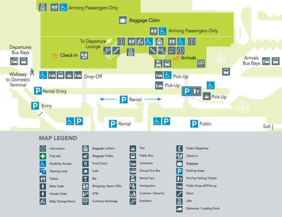 Cairns Airport International Terminal Map
