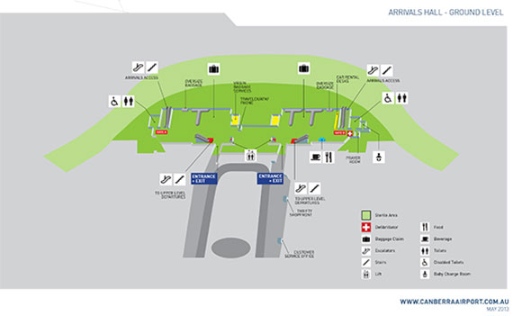 Canberra Airport Map