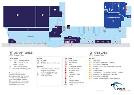 Darwin Airport Map