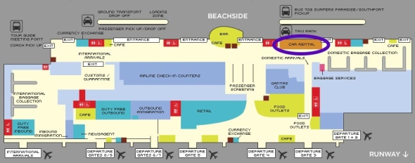Gold Coast Airport Map