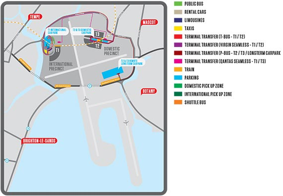 Sydney Airport Map