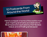 10 Postcards From Around the World Infograph