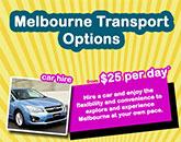 Melbourne Transport Options Infograph