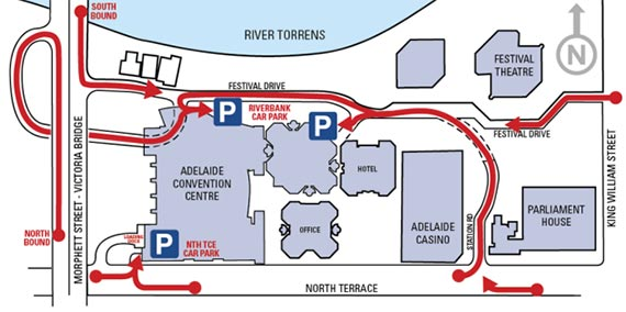 Adelaide Convention Centre Carpark Map