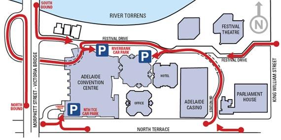 Adelaide Convention Centre Carpark Map