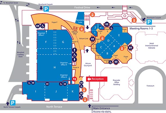 Adelaide Convention Centre Map