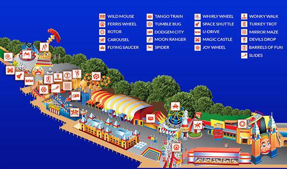 Luna Park Map