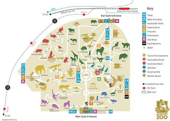 Melbourne Zoo Map