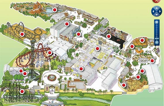 Movie World Interactive Map