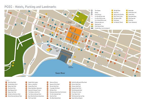 Perth Convention Centre Parking Map