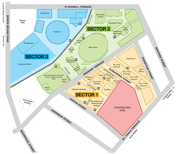 RNA Showgrounds Map