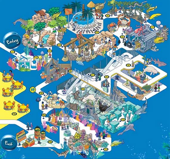 Sea Life Aquarium Map